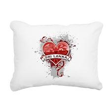 Heart Sri Lanka Rectangular Canvas Pillow