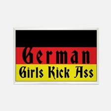 German Girls Kick Ass Rectangle Magnet