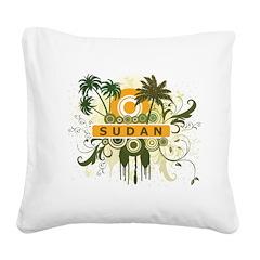 Palm Tree Sudan Square Canvas Pillow