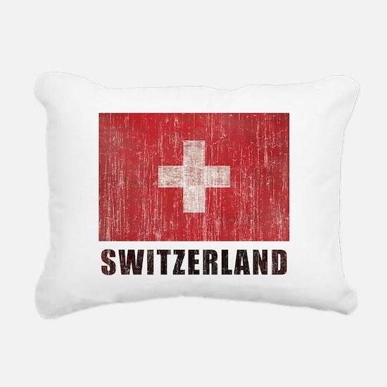 Vintage Switzerland Rectangular Canvas Pillow
