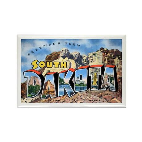 South Dakota Greetings Rectangle Magnet