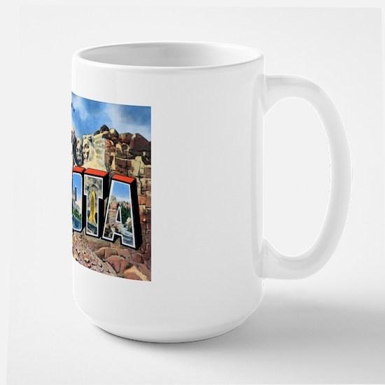 South Dakota Greetings Large Mug