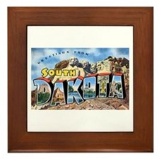 South Dakota Greetings Framed Tile