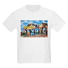 South Dakota Greetings (Front) Kids T-Shirt