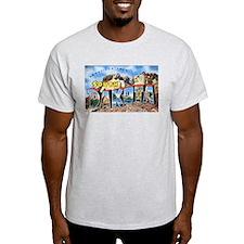 South Dakota Greetings (Front) Ash Grey T-Shirt