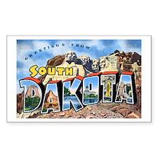 South Dakota Greetings Rectangle Decal