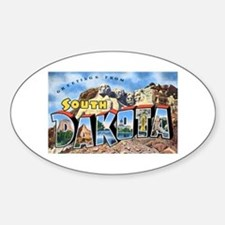 South Dakota Greetings Oval Decal
