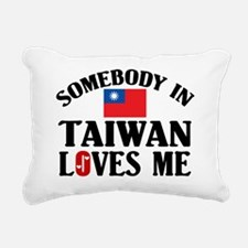 Somebody In Taiwan Rectangular Canvas Pillow