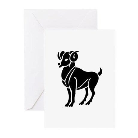 Aries - The Ram Greeting Cards (Pk of 10)
