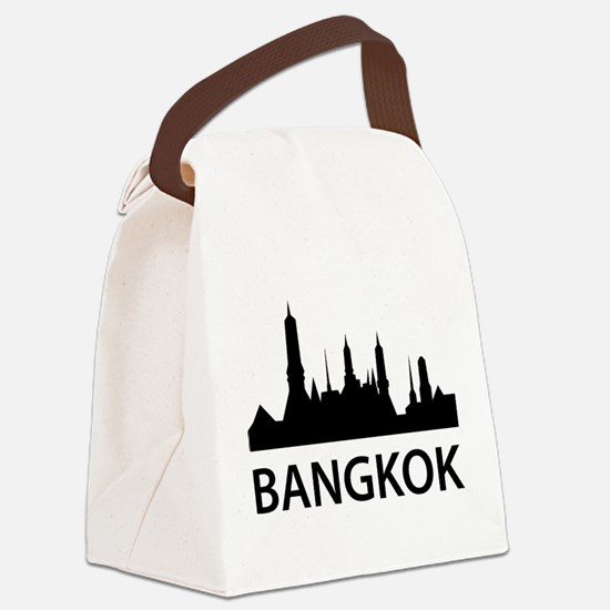 Bangkok Skyline Canvas Lunch Bag