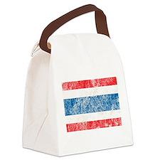 Vintage Thailand Flag Canvas Lunch Bag