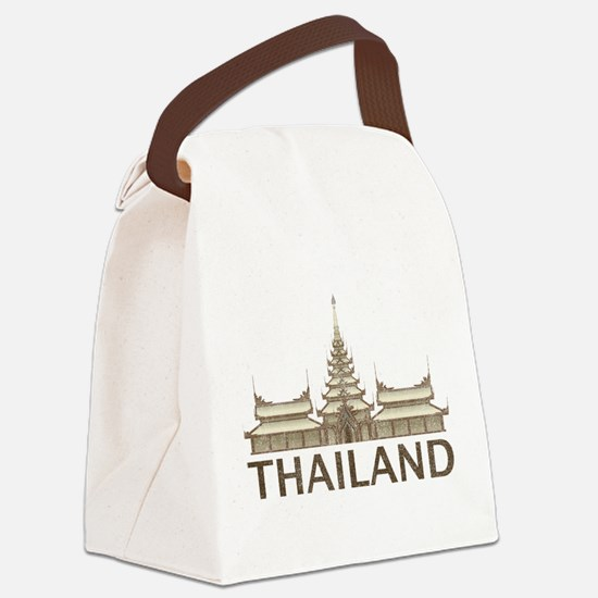 Vintage Thailand Temple Canvas Lunch Bag