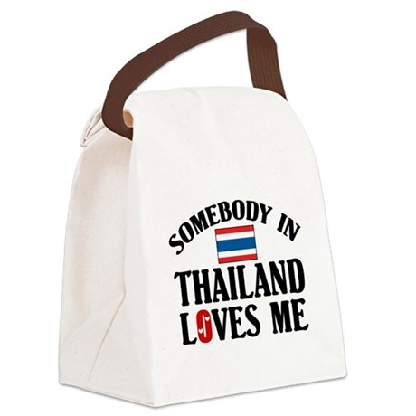 Somebody In Thailand Canvas Lunch Bag