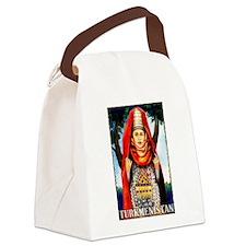 Vintage Turkmenistan Art Canvas Lunch Bag