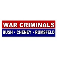 war criminals... Bumper Bumper Sticker