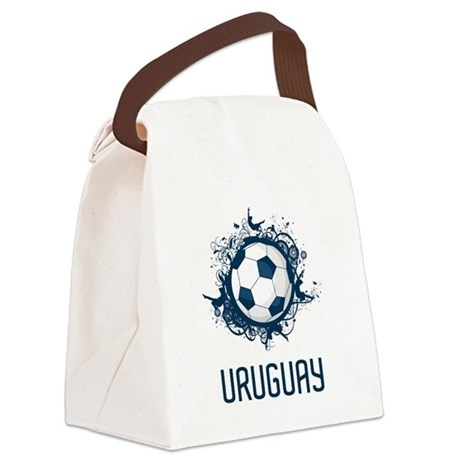 Uruguay Football Canvas Lunch Bag