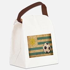 Vintage Uruguay Football Canvas Lunch Bag