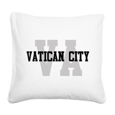 VA Vatican City Square Canvas Pillow