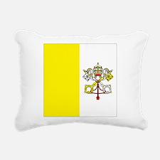 Vatican City Flag Rectangular Canvas Pillow