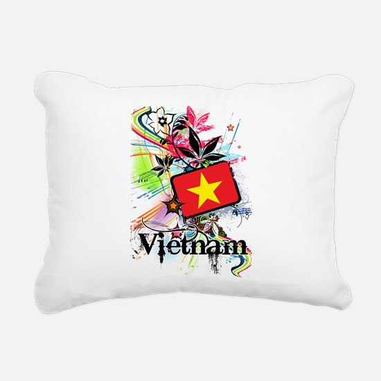 Flower Vietnam Rectangular Canvas Pillow