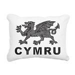Vintage Cymru Rectangular Canvas Pillow