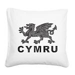 Vintage Cymru Square Canvas Pillow