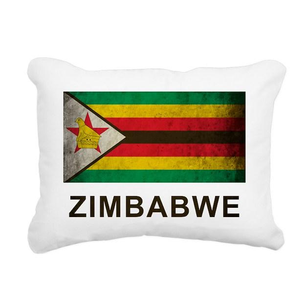 Vintage Zimbabwe Rectangular Canvas Pillow By Oneworldgear