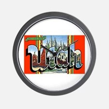 Utah Greetings Wall Clock