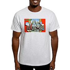 Utah Greetings (Front) Ash Grey T-Shirt