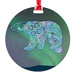 Celtic Polar Bear Round Ornament