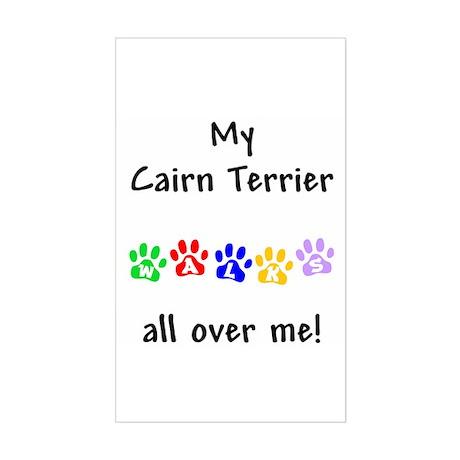 Cairn Terrier Walks Rectangle Sticker