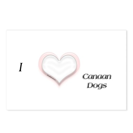 I heart Canaan Dogs Postcards (Package of 8)