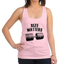 size-matters.jpg Racerback Tank Top
