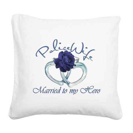 married herobg.png Square Canvas Pillow