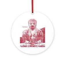 Giant Buddha Kamakura Tokyo Ornament (Round)