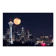 Seattle Space Needle Full Moon Postcards (Package