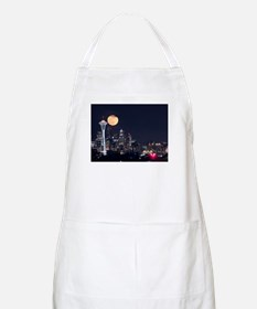 Seattle Space Needle Full Moon Apron