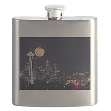 Seattle Space Needle Full Moon Flask