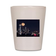 Seattle Space Needle Full Moon Shot Glass