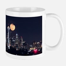 Seattle Space Needle Full Moon Mug
