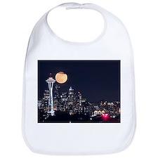 Seattle Space Needle Full Moon Bib