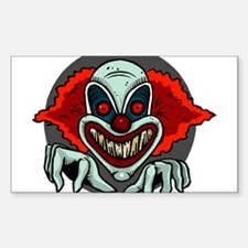 Evil Clown Rectangle Decal