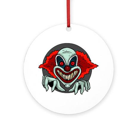Evil Clown Ornament (Round)