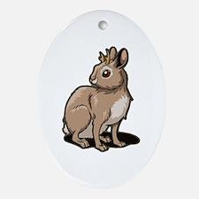 Jackalope Ornament (Oval)