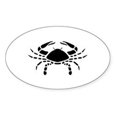 Cancer - The Crab Oval Decal
