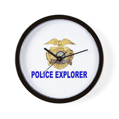 Police Explorer Wall Clock