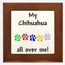 Chihuahua Walks Framed Tile