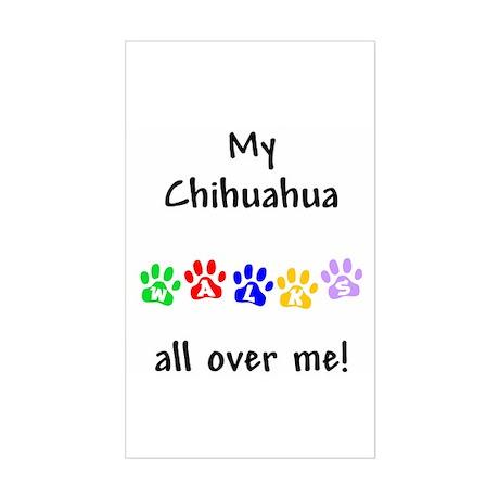 Chihuahua Walks Rectangle Sticker