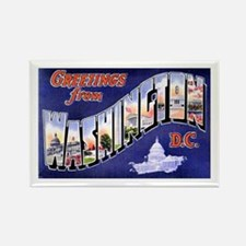 Washington, D.C. Greetings Rectangle Magnet