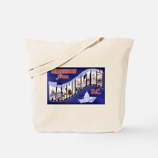 Washington, D.C. Greetings Tote Bag